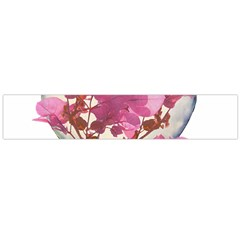 Heart Shaped With Flowers Digital Collage Flano Scarf (large) by dflcprints