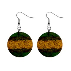 Tribal Floral Pattern Mini Button Earrings by dflcprints