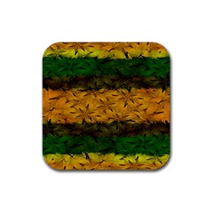 Tribal Floral Pattern Drink Coaster (square) by dflcprints