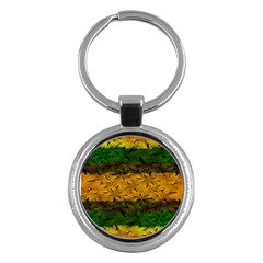 Tribal Floral Pattern Key Chain (round) by dflcprints