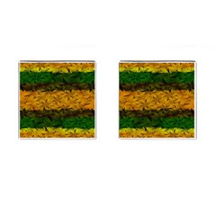 Tribal Floral Pattern Cufflinks (square) by dflcprints