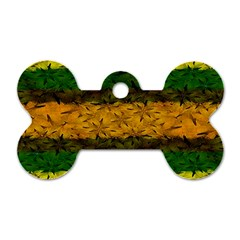 Tribal Floral Pattern Dog Tag Bone (one Sided) by dflcprints