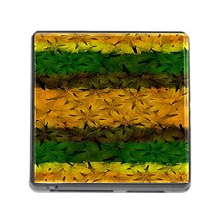Tribal Floral Pattern Memory Card Reader With Storage (square) by dflcprints