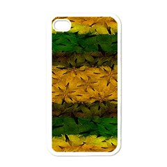Tribal Floral Pattern Apple Iphone 4 Case (white) by dflcprints