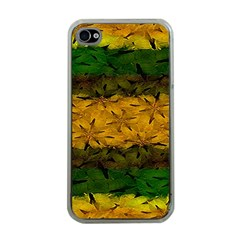 Tribal Floral Pattern Apple Iphone 4 Case (clear) by dflcprints