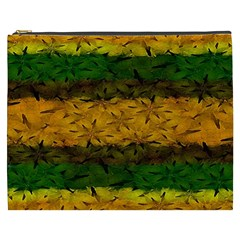 Tribal Floral Pattern Cosmetic Bag (xxxl) by dflcprints