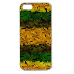 Tribal Floral Pattern Apple Seamless Iphone 5 Case (clear) by dflcprints