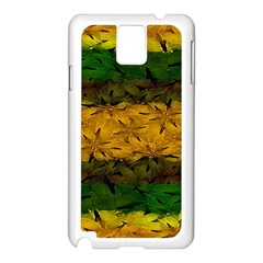 Tribal Floral Pattern Samsung Galaxy Note 3 N9005 Case (white) by dflcprints