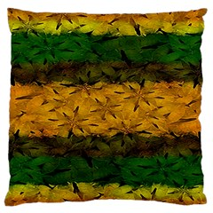 Tribal Floral Pattern Large Flano Cushion Case (two Sides) by dflcprints