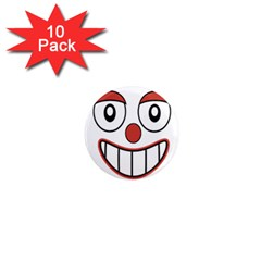 Happy Clown Cartoon Drawing 1  Mini Button Magnet (10 Pack) by dflcprints