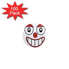 Happy Clown Cartoon Drawing 1  Mini Button Magnet (100 Pack) by dflcprints