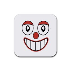 Happy Clown Cartoon Drawing Drink Coaster (square) by dflcprints