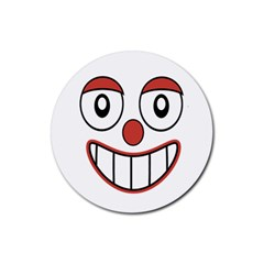 Happy Clown Cartoon Drawing Drink Coaster (round) by dflcprints