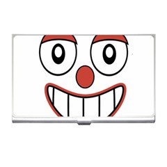 Happy Clown Cartoon Drawing Business Card Holder by dflcprints