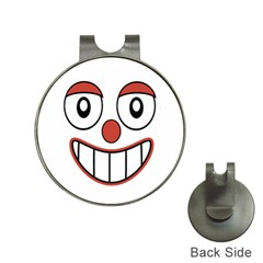 Happy Clown Cartoon Drawing Hat Clip With Golf Ball Marker by dflcprints