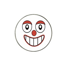 Happy Clown Cartoon Drawing Golf Ball Marker (for Hat Clip) by dflcprints