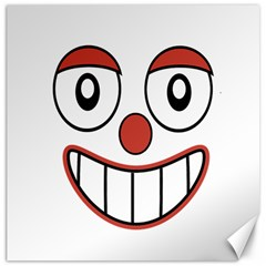 Happy Clown Cartoon Drawing Canvas 12  X 12  (unframed) by dflcprints