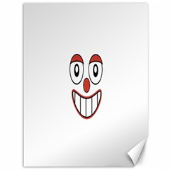 Happy Clown Cartoon Drawing Canvas 36  X 48  (unframed) by dflcprints