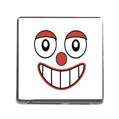 Happy Clown Cartoon Drawing Memory Card Reader With Storage (square) by dflcprints