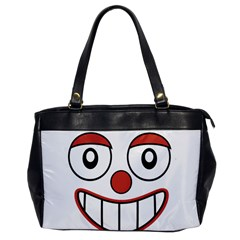 Happy Clown Cartoon Drawing Oversize Office Handbag (one Side) by dflcprints