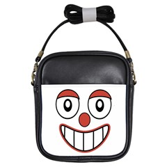 Happy Clown Cartoon Drawing Girl s Sling Bag by dflcprints