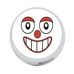 Happy Clown Cartoon Drawing 4 Port Usb Hub (two Sides) by dflcprints