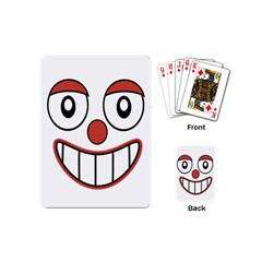 Happy Clown Cartoon Drawing Playing Cards (mini) by dflcprints