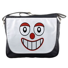 Happy Clown Cartoon Drawing Messenger Bag by dflcprints