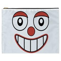 Happy Clown Cartoon Drawing Cosmetic Bag (xxxl) by dflcprints