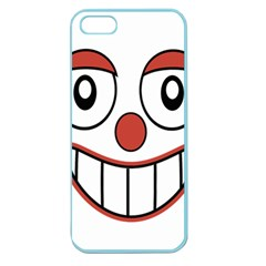 Happy Clown Cartoon Drawing Apple Seamless Iphone 5 Case (color) by dflcprints
