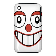 Happy Clown Cartoon Drawing Apple Iphone 3g/3gs Hardshell Case (pc+silicone) by dflcprints