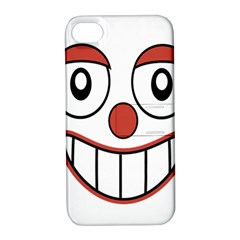 Happy Clown Cartoon Drawing Apple Iphone 4/4s Hardshell Case With Stand by dflcprints