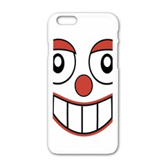 Happy Clown Cartoon Drawing Apple Iphone 6 White Enamel Case by dflcprints