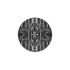 Black And White Tribal Geometric Pattern Print Golf Ball Marker 10 Pack by dflcprints