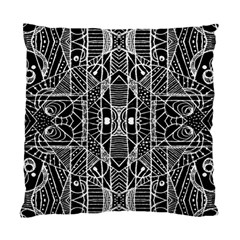 Black And White Tribal Geometric Pattern Print Cushion Case (single Sided)  by dflcprints