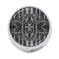 Black And White Tribal Geometric Pattern Print 4 Port Usb Hub (two Sides) by dflcprints