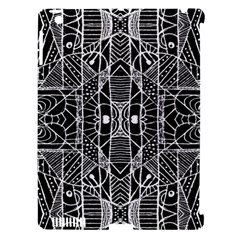 Black And White Tribal Geometric Pattern Print Apple Ipad 3/4 Hardshell Case (compatible With Smart Cover) by dflcprints