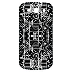 Black And White Tribal Geometric Pattern Print Samsung Galaxy S3 S Iii Classic Hardshell Back Case