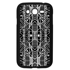 Black And White Tribal Geometric Pattern Print Samsung Galaxy Grand Duos I9082 Case (black) by dflcprints