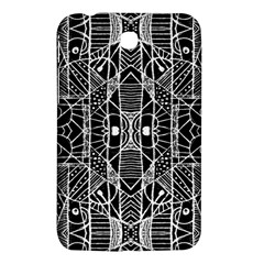 Black And White Tribal Geometric Pattern Print Samsung Galaxy Tab 3 (7 ) P3200 Hardshell Case  by dflcprints