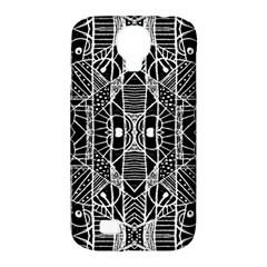 Black And White Tribal Geometric Pattern Print Samsung Galaxy S4 Classic Hardshell Case (pc+silicone)