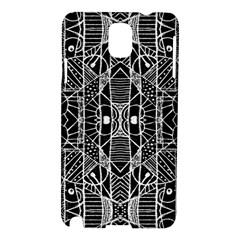 Black And White Tribal Geometric Pattern Print Samsung Galaxy Note 3 N9005 Hardshell Case by dflcprints