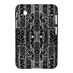 Black And White Tribal Geometric Pattern Print Samsung Galaxy Tab 2 (7 ) P3100 Hardshell Case