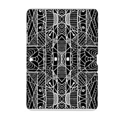 Black And White Tribal Geometric Pattern Print Samsung Galaxy Tab 2 (10 1 ) P5100 Hardshell Case