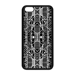 Black And White Tribal Geometric Pattern Print Apple Iphone 5c Seamless Case (black) by dflcprints