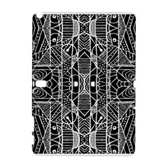 Black And White Tribal Geometric Pattern Print Samsung Galaxy Note 10 1 (p600) Hardshell Case