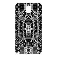 Black And White Tribal Geometric Pattern Print Samsung Galaxy Note 3 N9005 Hardshell Back Case