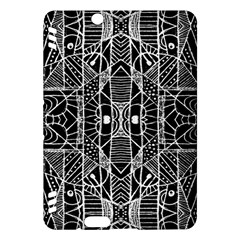 Black And White Tribal Geometric Pattern Print Kindle Fire Hdx Hardshell Case by dflcprints