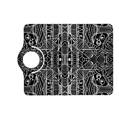 Black And White Tribal Geometric Pattern Print Kindle Fire Hd (2013) Flip 360 Case by dflcprints