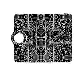 Black And White Tribal Geometric Pattern Print Kindle Fire Hdx 8 9  Flip 360 Case by dflcprints